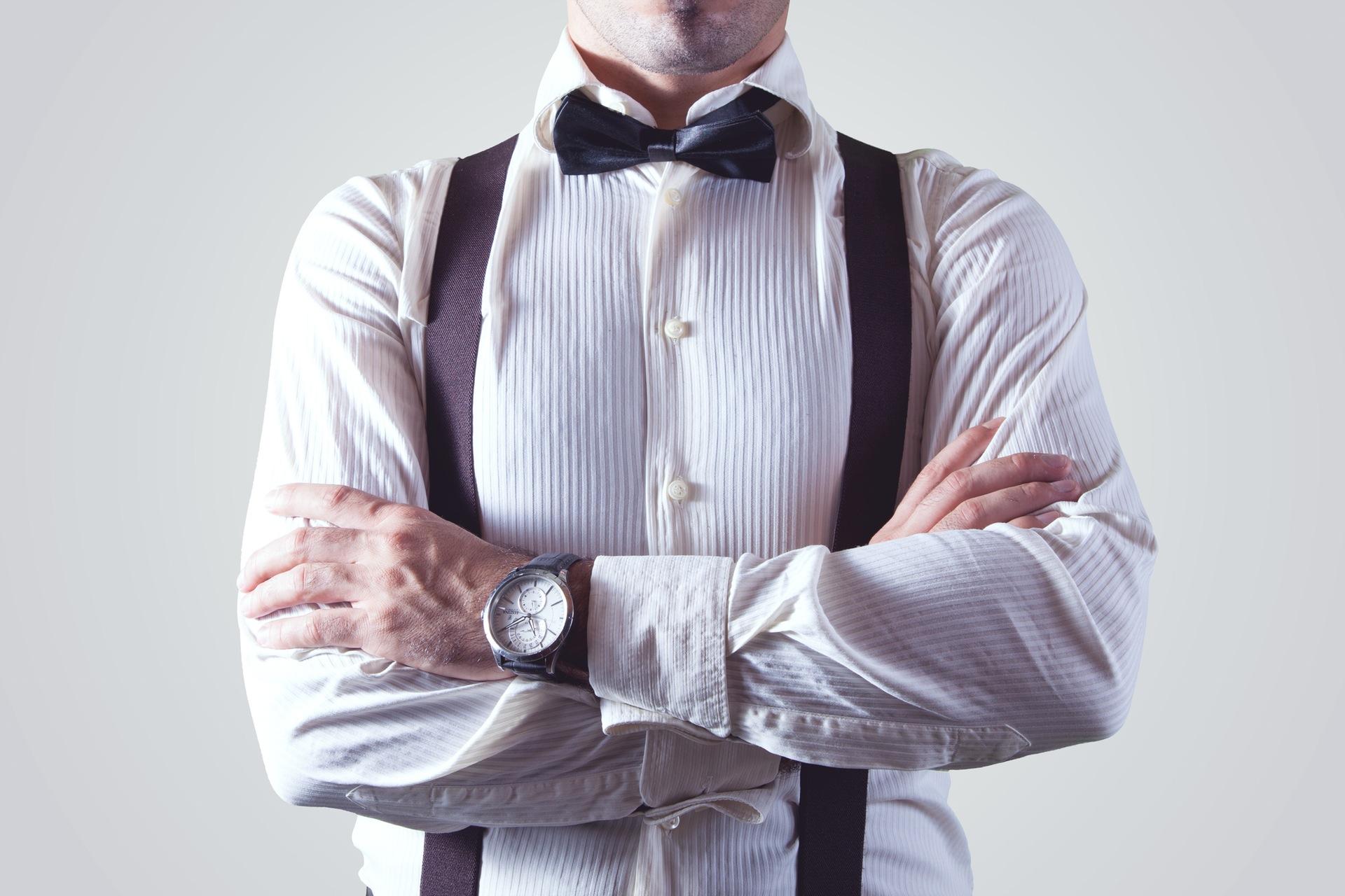Bow tie businessman fashion man
