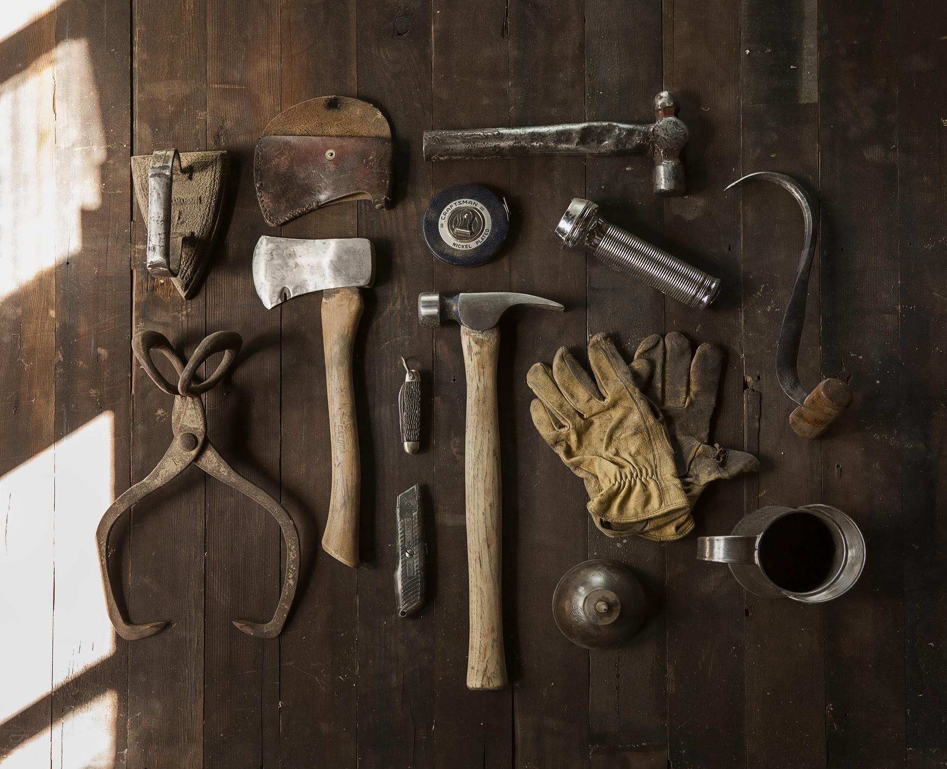 Construction work carpenter tools